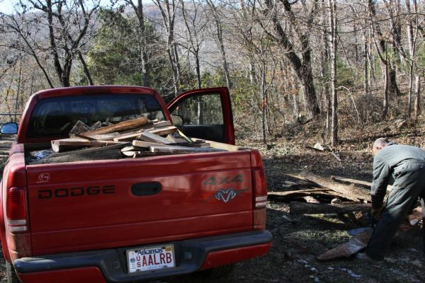 Firewood in the truck. Homestead was the focus of 2014 in this review of a Wild Ozark decade.