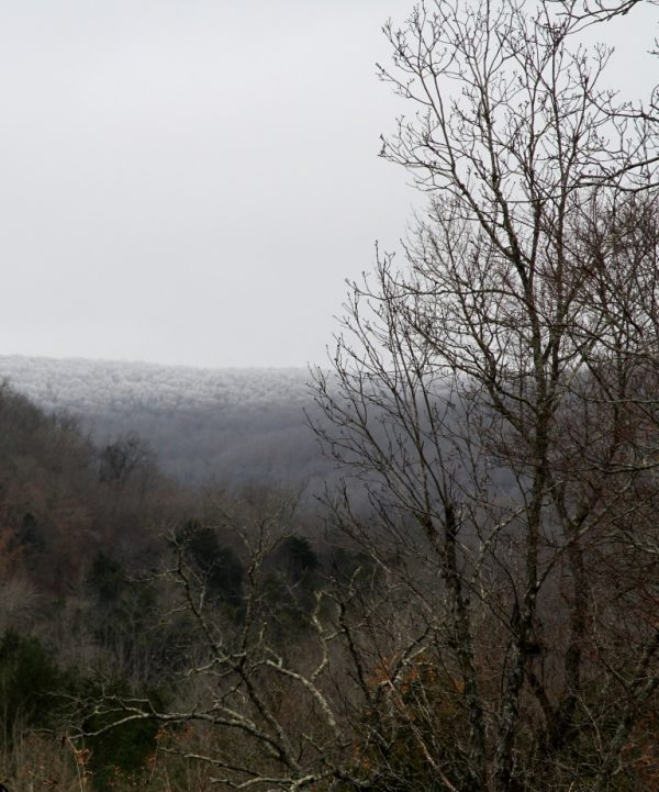 photo of frosty Ozark hills