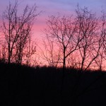 photo of sunset in winter in the ozarks
