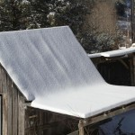 blanket of snow on shed roof