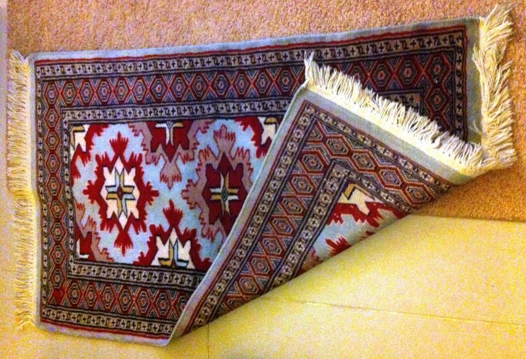 Afgan rug with blue