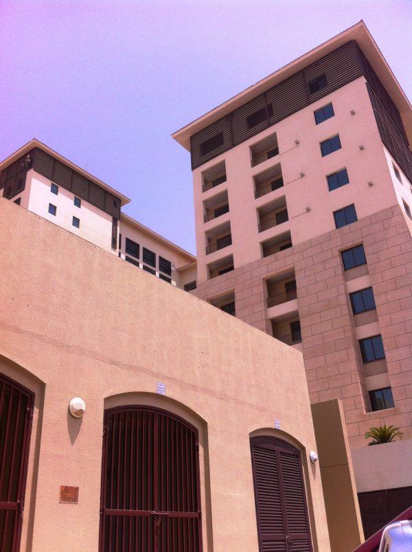 desert tan buildings