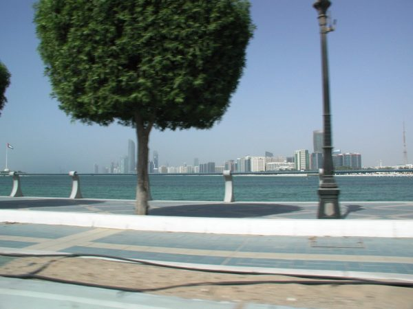 Abu Dhabi from across the water.