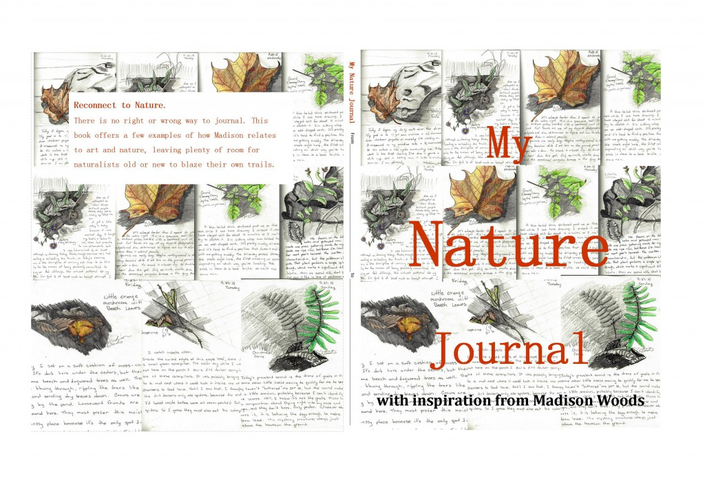 """Full cover for the """"My Nature Journal"""" book in the works. Look for it at Amazon on Oct. 5."""