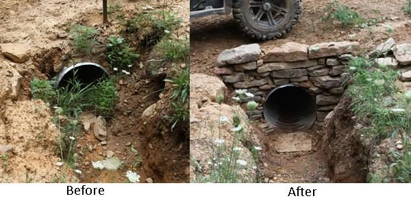 Before and After the Culvert Wall