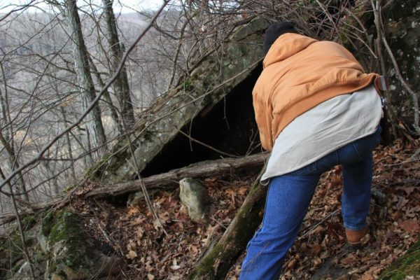Rob seems to particularly like looking in the nooks where critters like bears and bobcats could be sleeping.