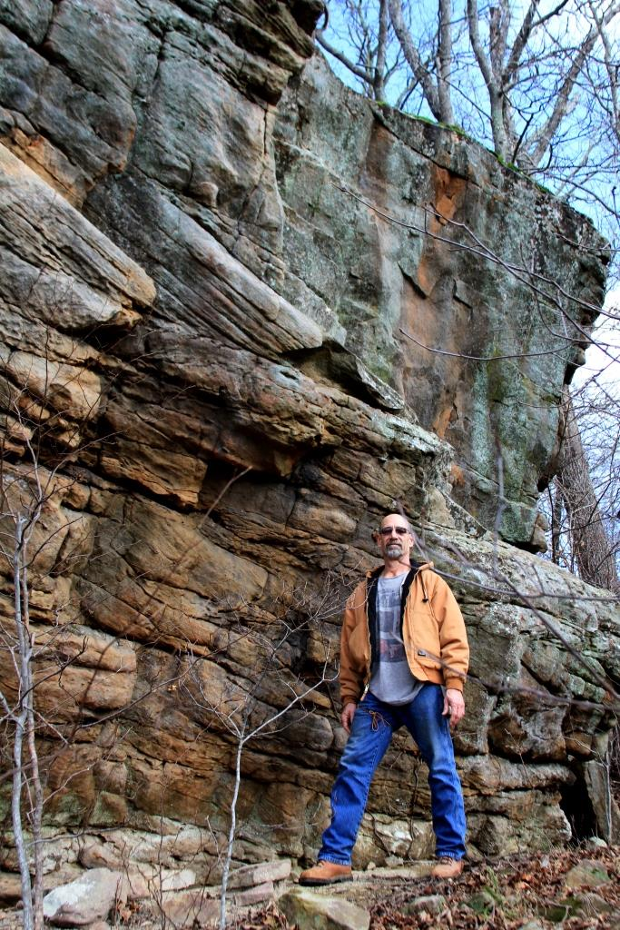 Rob standing on the ledge of one of the walls. Helps to give you an idea for size context.