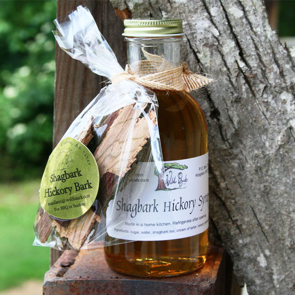 A package of the bark and some of the syrup from the bark of the shagbark hickory tree.