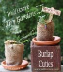 burlap cutie fairy garden