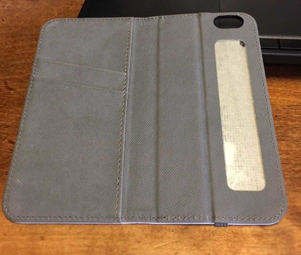 Inside view of the iPhone wallet from RedBubble.