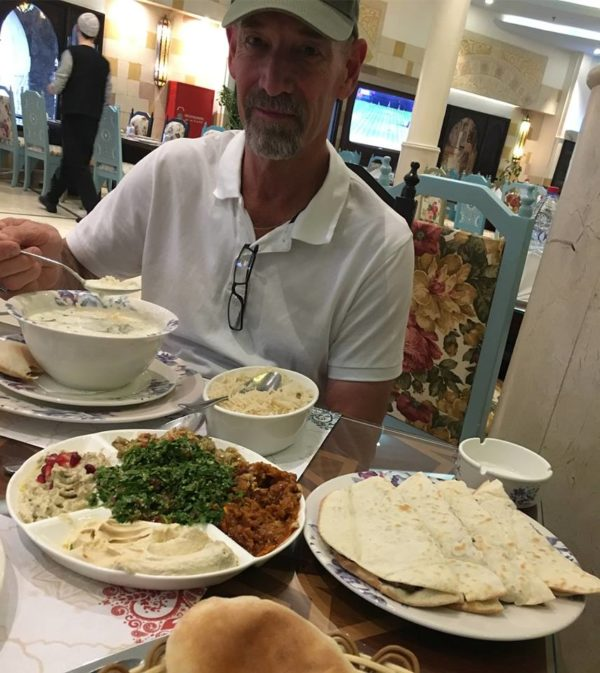 We had an incredibly delicious meal of foods I cannot name at the Damasca One restaurant at Souq Waqif.