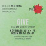 Give Less, Give More Popup venue at the Johnson Mill