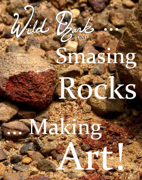 Smashing rocks and making art!
