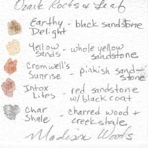 Color key for Ozark Rocks and Leaf