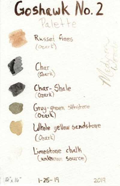 palette swatch card for Rhapsody by Madison Woods