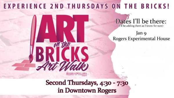 Come out to Art on the Bricks to see my pop-up exhibit of orginial Paleo Paintings.