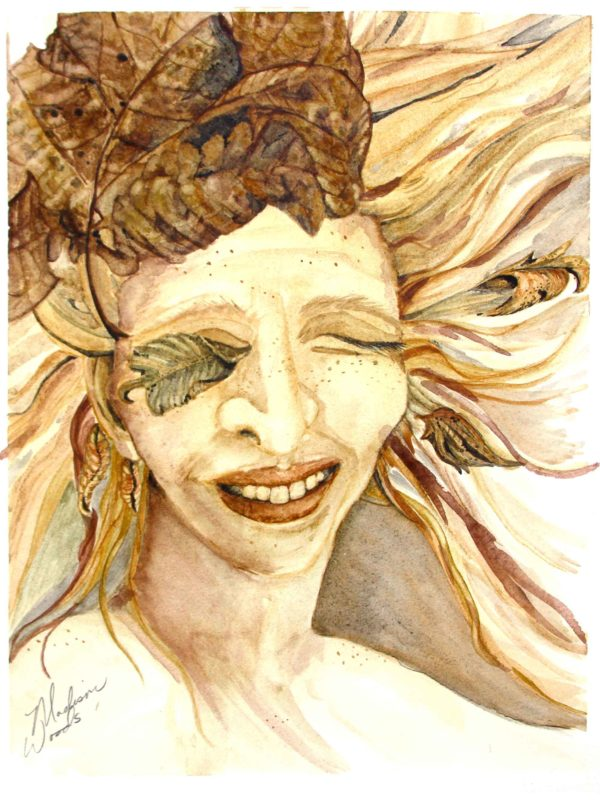 """At The Las Laguna Art Gallery Online Exhibition: 2020 Portraits. """"Eye of the Storm"""", by Madison Woods."""