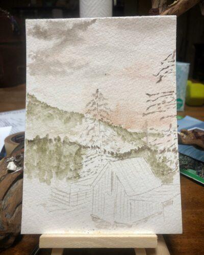 Adding background elements.