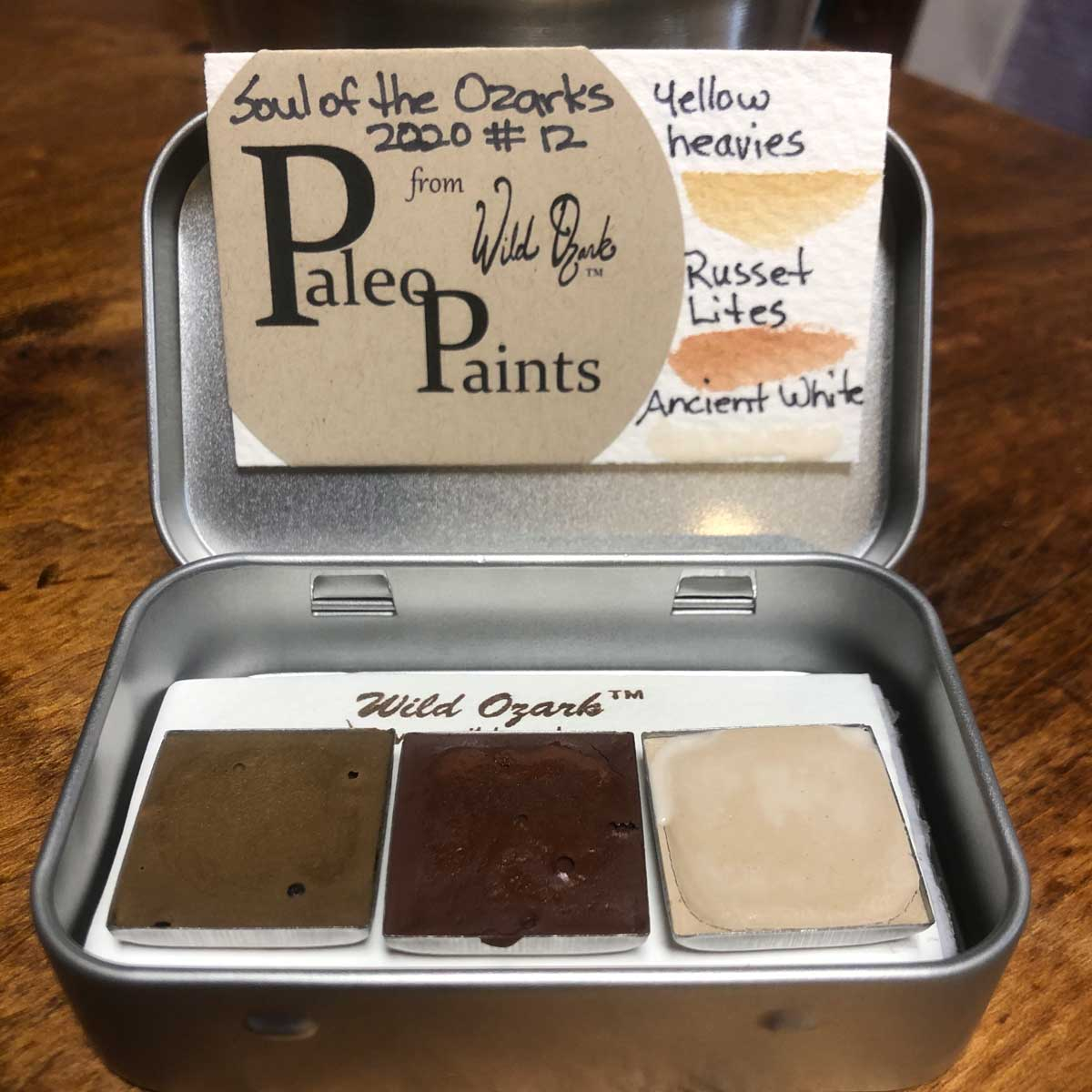 Handmade watercolor paint from Ozark stones. Soul of the Ozarks 2020 Collection no. 12.