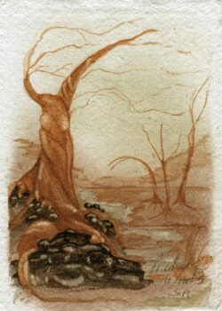 'Four of Wants' is the second in my Twisted Tree series. All Ozark pigments.