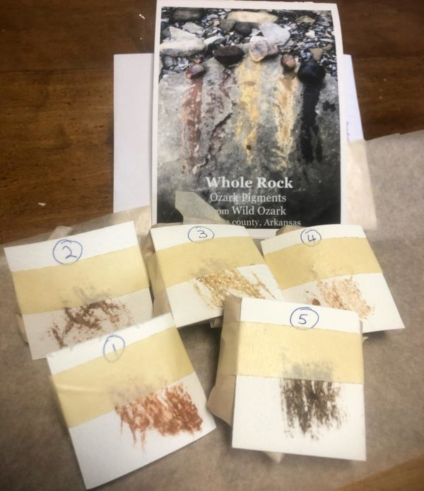 Individually packaged Wild Ozark whole pigment rocks.