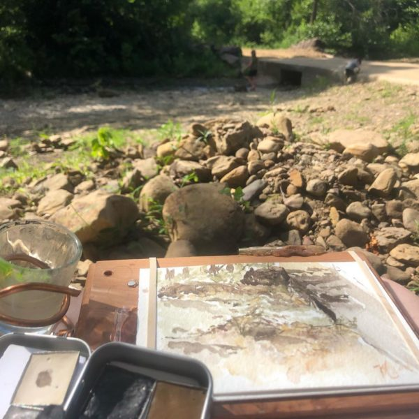 My studio for the painting of Felkins in Summer.