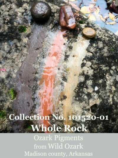 Wild Ozark whole earth pigment rocks, set 101520-01