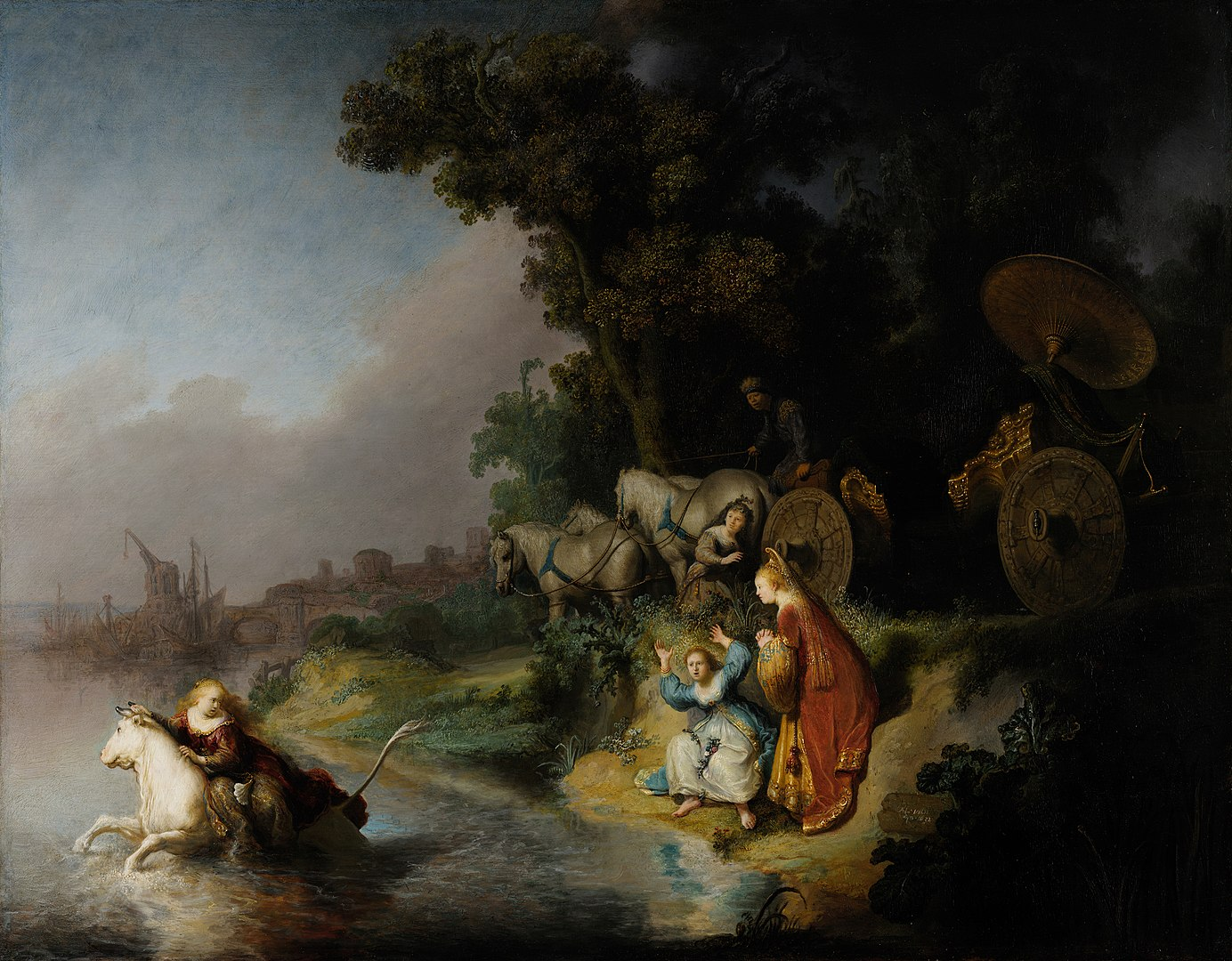 The Abduction of Europa by Rembrandt is just full of the colors and details that makes it one of the works of art that I love.