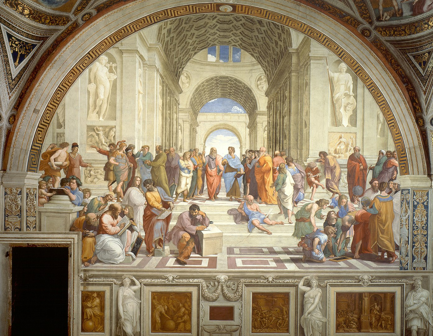 The School of Athens, by Raphael (painted between 1509-1511), is one of the kinds of paintings that represents art that I love.