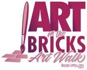 The logo for Rogers Arkansas' Art on the Bricks art walk.