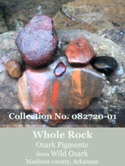 Whole pigment rock collection from Wild Ozark.