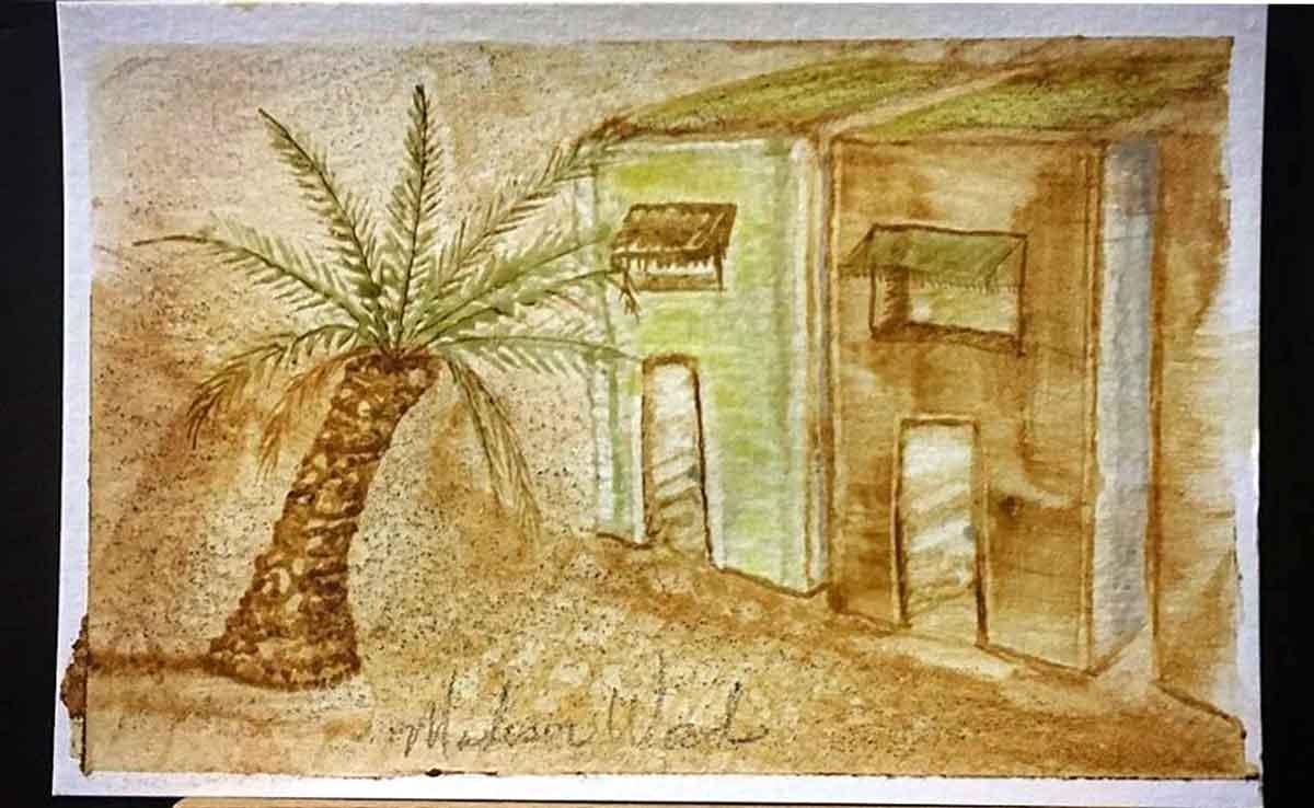 The first painting, in Doha (Al Rayyan), Qatar.