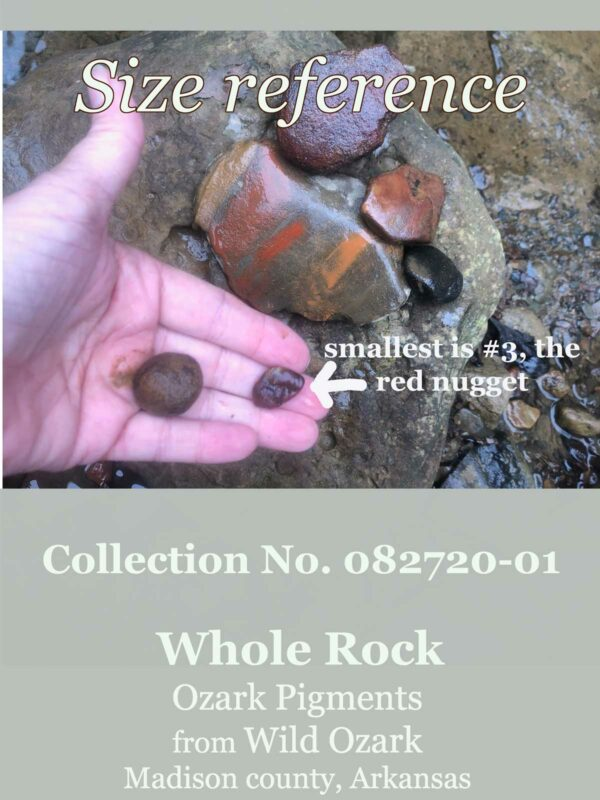 An image to show the size of the smallest rocks in this whole pigment collection.