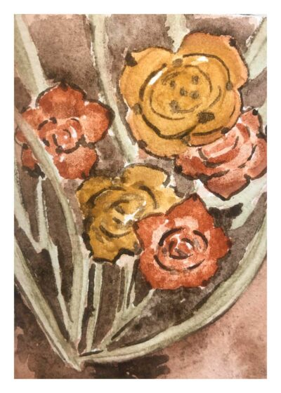 A giclee print of my painting titled 'Ocher Glories'.
