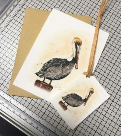 Pelican Notecard and Gift Tag
