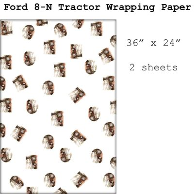 Wrapping paper featuring my painting of my grandfather's old Ford 8N tractor.